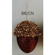 110 MM Glitter Acorn - Brown / Champagne