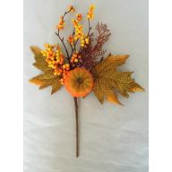 "14 "" Maple And Pumpkin Pick With Berry - Orange"