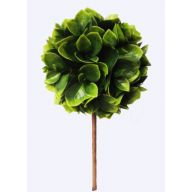 "5.5 "" Dia Plastic Leaf Topiary 11 "" H - Green / Yellow"