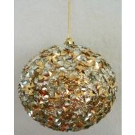 100 MM Glitter Hanging Ball - Gold / Silver