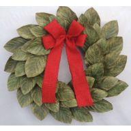 """20 """" Magnolia Vine Wreath w / Ribbon"""