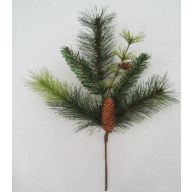 "19 "" PVC Pine Pick w / Pine Cones"