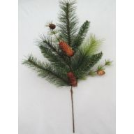 "24 "" PVC Pine Spray w / Pine Cones"