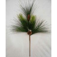 "31.5 "" PVC Pine Spray w / Pine Cones"