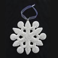 150MM Glitter Snowflake Ornament