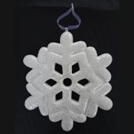 300MM Glitter Snowflake Ornament