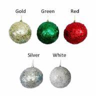 100MM Glitter Ball Ornament
