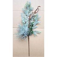 """20"""" Spray w/ Snow PVC Pine Cedar Coral"""