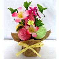 20CM Table Pot w/ Glitter Egg Mini Flower