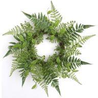 """17"""" Vine Fern Wreath"""