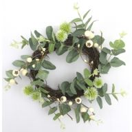 "13"" Vine Eucalyptus Wreath w/ Berry"