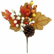 """9.5"""" Berry Pick w/ Pine Cone, Maple"""