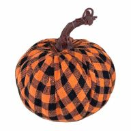 130MM Check Fabric Wrap Pumpkin
