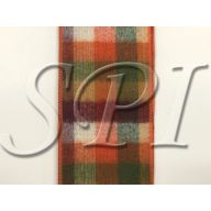10 Yd Brushed Fall Plaid Wired Ribbon - Multi
