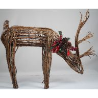 "26.5"" X 22"" STANDING VINE DEER W/ HEAD DOWN"