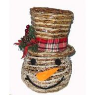 Snowman Head w / Hat Vine 9.75 ""