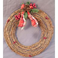 "16 "" Mountain Rattan Wreath"