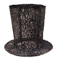"8 x 6.25 "" Top Hat - Black"