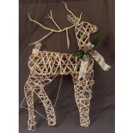 """35.5 """" Rattan Deer"""