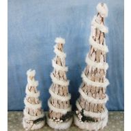 "Set Of 3 Vine Cone Tree 16"" 24"" 31.75"""