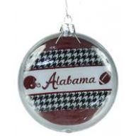"4 "" Alabama Flat 3D Glass Ornament"