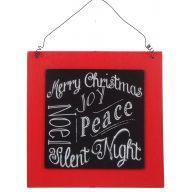 "8 "" Chalkboard Christmas Plaque - Christmas Words"