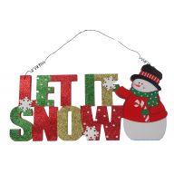 """12 """" Let It Snow Plaque"""