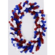 "24 X 20 "" Oval Wreath 165 Tips - Red / White / Blue"